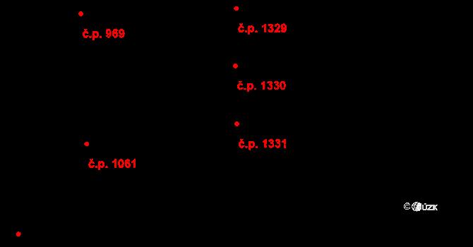 Černice 1331, Plzeň na parcele st. 267/92 v KÚ Černice, Katastrální mapa