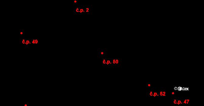 Loucká 50 na parcele st. 356 v KÚ Loucká, Katastrální mapa