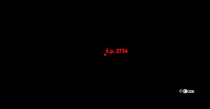 Česká Lípa 2734 na parcele st. 5994/4 v KÚ Česká Lípa, Katastrální mapa