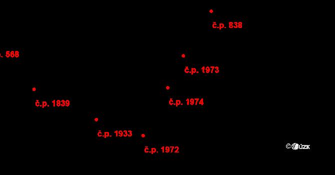 Předměstí 1974, Opava na parcele st. 372/14 v KÚ Opava-Předměstí, Katastrální mapa