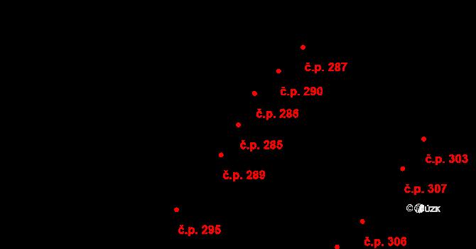 Tašovice 285, Karlovy Vary na parcele st. 642 v KÚ Tašovice, Katastrální mapa