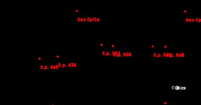 Svítkov 651, Pardubice na parcele st. 748 v KÚ Svítkov, Katastrální mapa