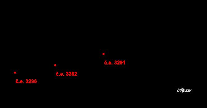 Božkov 3291, Plzeň na parcele st. 1237/13 v KÚ Božkov, Katastrální mapa