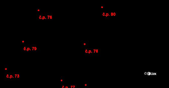 Sedlejov 78 na parcele st. 123 v KÚ Sedlejov, Katastrální mapa