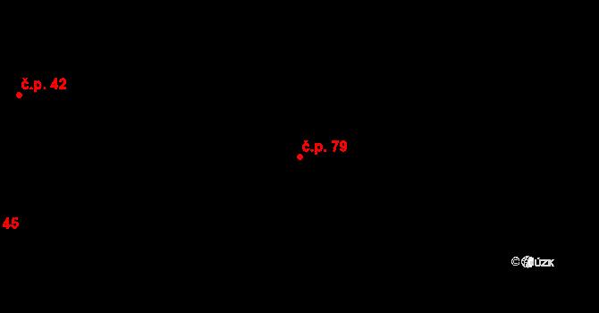 Nová Ves u Nového Města na Moravě 79 na parcele st. 216/1 v KÚ Nová Ves u Nového Města na Moravě, Katastrální mapa