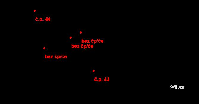 Dolní Pěna 43 na parcele st. 48/1 v KÚ Dolní Pěna, Katastrální mapa
