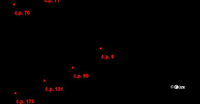Strašnice 9, Praha na parcele st. 572 v KÚ Strašnice, Katastrální mapa