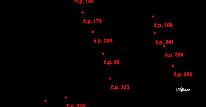 Nové Sady 65, Olomouc na parcele st. 508 v KÚ Nové Sady u Olomouce, Katastrální mapa