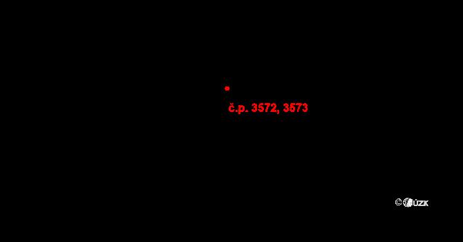 Prostějov 3572,3573 na parcele st. 6169/116 v KÚ Prostějov, Katastrální mapa