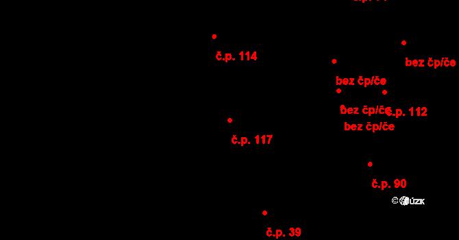 Závada 117 na parcele st. 253/8 v KÚ Závada u Hlučína, Katastrální mapa