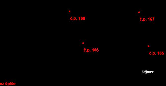 Nová Ves u Nového Města na Moravě 166 na parcele st. 1551/24 v KÚ Nová Ves u Nového Města na Moravě, Katastrální mapa
