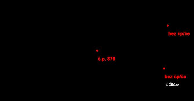 Průhonice 876 na parcele st. 682/201 v KÚ Průhonice, Katastrální mapa