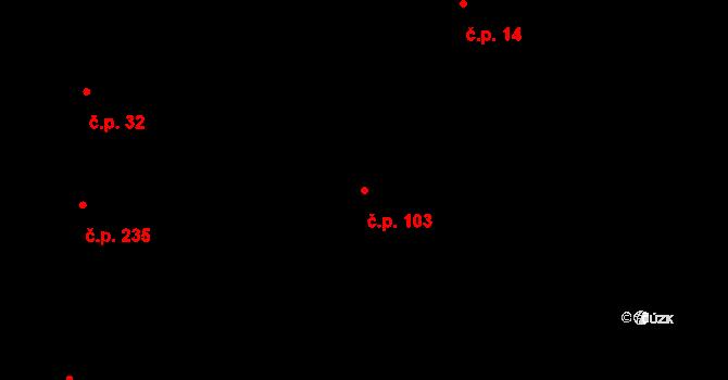 Děhylov 103 na parcele st. 391 v KÚ Děhylov, Katastrální mapa