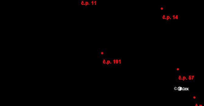 Minice 191, Kralupy nad Vltavou na parcele st. 28/2 v KÚ Minice u Kralup nad Vltavou, Katastrální mapa