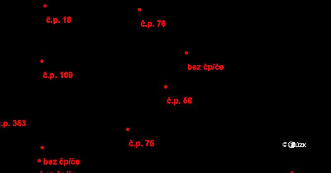 Otovice 58 na parcele st. 103/2 v KÚ Otovice u Karlových Var, Katastrální mapa
