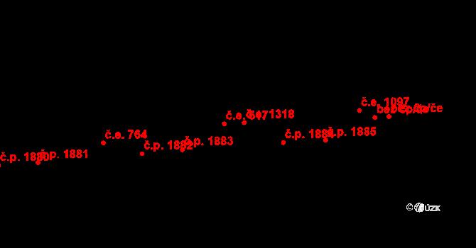 Aš 1318 na parcele st. 4554 v KÚ Aš, Katastrální mapa