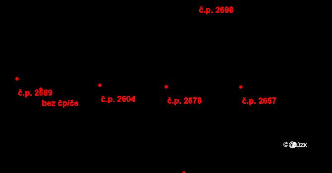 Cheb 2578 na parcele st. 7511 v KÚ Cheb, Katastrální mapa