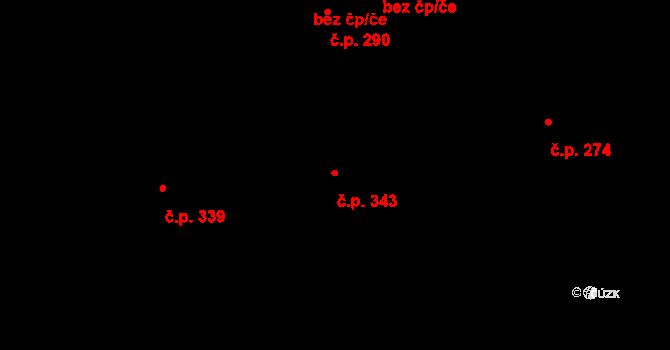 Nová Role 343 na parcele st. 1385 v KÚ Nová Role, Katastrální mapa