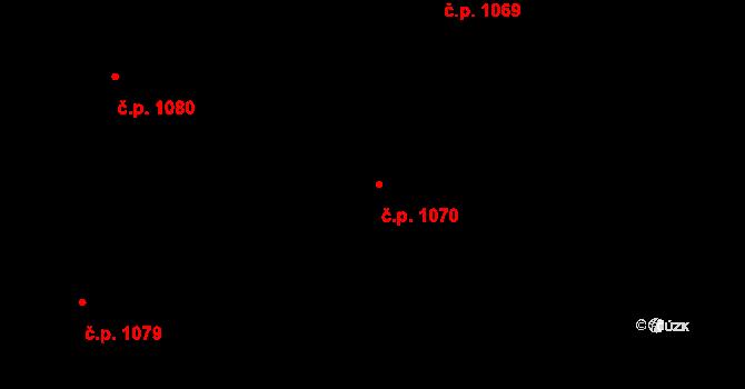 Nivnice 1070 na parcele st. 1981/69 v KÚ Nivnice, Katastrální mapa