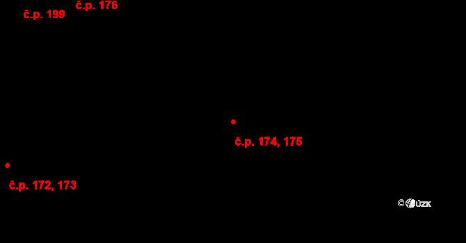 Krásný Dvůr 174,175 na parcele st. 130/6 v KÚ Krásný Dvůr, Katastrální mapa