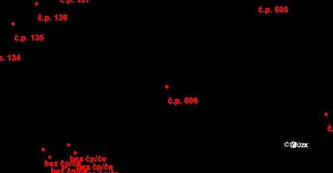 Lednice 606 na parcele st. 294 v KÚ Lednice na Moravě, Katastrální mapa