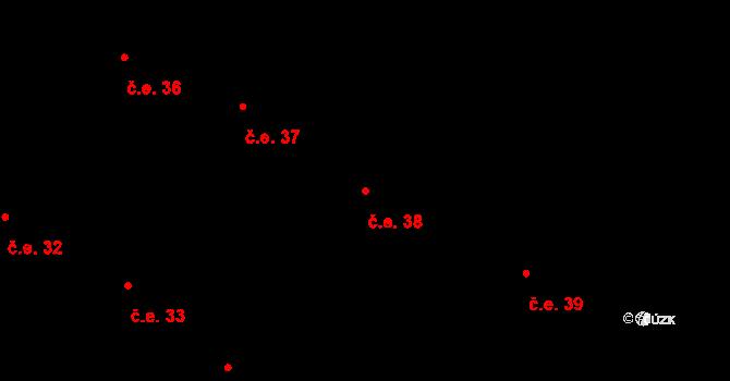 Buková Lhota 38, Benešov na parcele st. 326 v KÚ Úročnice, Katastrální mapa