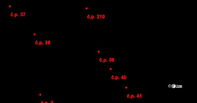 Slavonice 39 na parcele st. 370/1 v KÚ Slavonice, Katastrální mapa