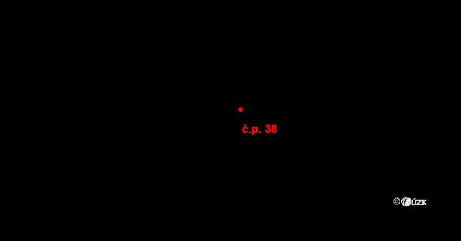 Pařezská Lhota 38, Holín na parcele st. 71 v KÚ Pařezská Lhota, Katastrální mapa