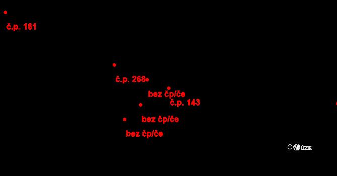 Liberec XXXII-Radčice 143, Liberec na parcele st. 144/1 v KÚ Radčice u Krásné Studánky, Katastrální mapa