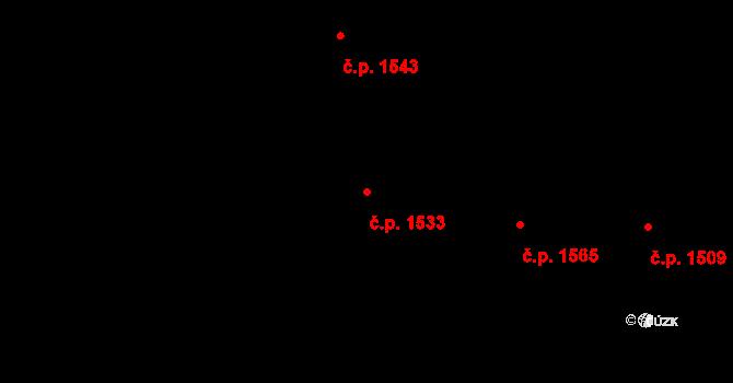 Vinohrady 1533, Praha na parcele st. 2365 v KÚ Vinohrady, Katastrální mapa