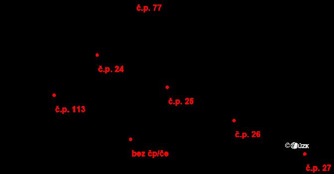 Liberec V-Kristiánov 25, Liberec na parcele st. 1060/1 v KÚ Liberec, Katastrální mapa