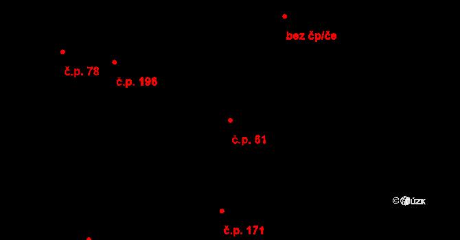 Studánka 61 na parcele st. 78 v KÚ Studánka u Tachova, Katastrální mapa