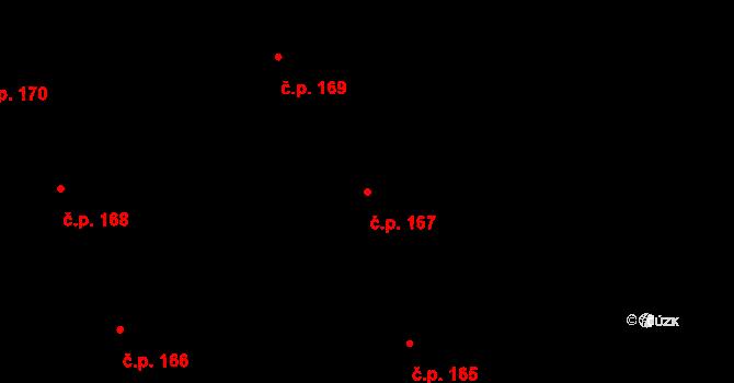 Nová Ves u Nového Města na Moravě 167 na parcele st. 1551/26 v KÚ Nová Ves u Nového Města na Moravě, Katastrální mapa