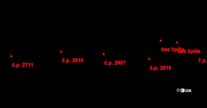 Cheb 2607 na parcele st. 7551 v KÚ Cheb, Katastrální mapa