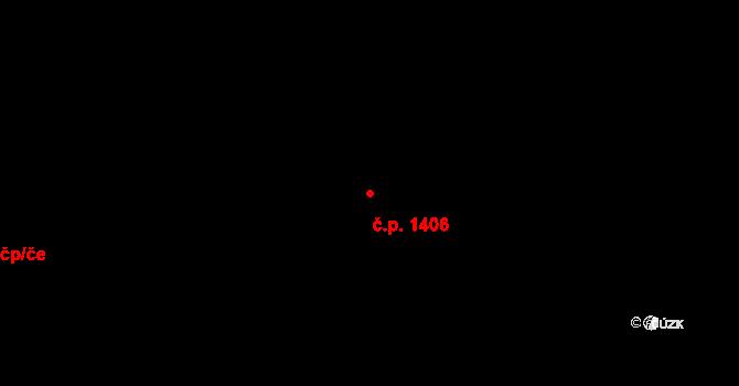 Moravská Ostrava 1406, Ostrava na parcele st. 2635/30 v KÚ Moravská Ostrava, Katastrální mapa