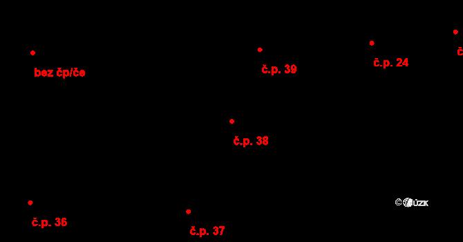 Žirovnice 38 na parcele st. 99 v KÚ Žirovnice, Katastrální mapa