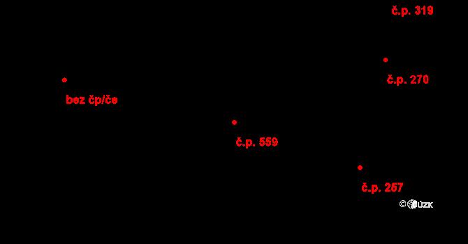 Letovice 559 na parcele st. 1771 v KÚ Letovice, Katastrální mapa