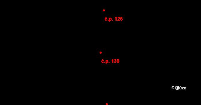 Prostějov 130 na parcele st. 173 v KÚ Prostějov, Katastrální mapa