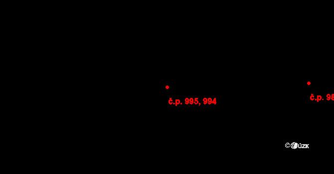 Studánka 994,995, Pardubice na parcele st. 957 v KÚ Studánka, Katastrální mapa