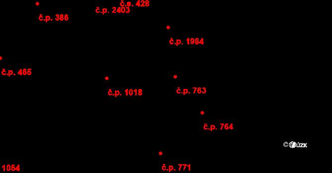 Aš 763 na parcele st. 983/1 v KÚ Aš, Katastrální mapa