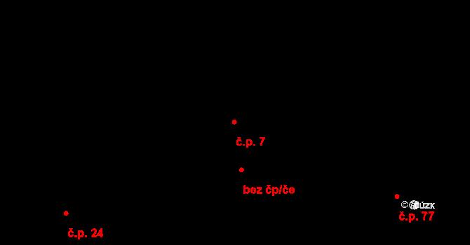 Lužná 7 na parcele st. 649 v KÚ Lužná u Vsetína, Katastrální mapa