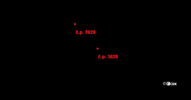 Frýdek 3628, Frýdek-Místek na parcele st. 6545/19 v KÚ Frýdek, Katastrální mapa