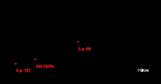 Kamenný Újezd 59 na parcele st. 86 v KÚ Kamenný Újezd u Rokycan, Katastrální mapa