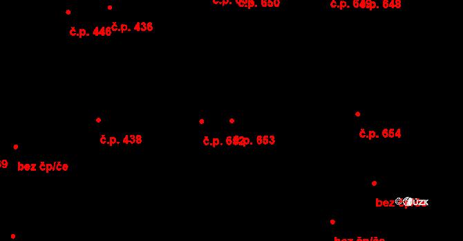 Svítkov 653, Pardubice na parcele st. 759 v KÚ Svítkov, Katastrální mapa