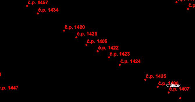 Bystrc 1422, Brno na parcele st. 1931/258 v KÚ Bystrc, Katastrální mapa