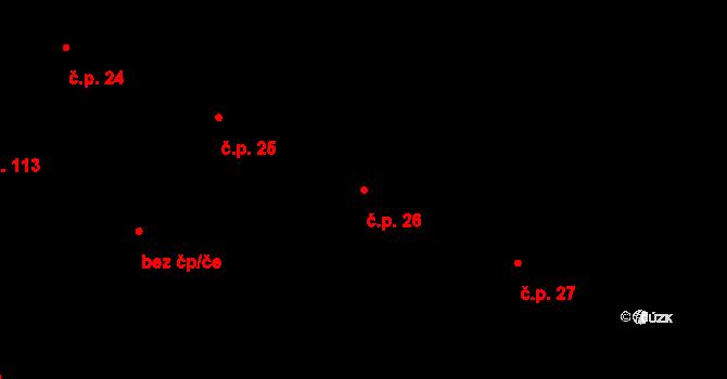 Liberec V-Kristiánov 26, Liberec na parcele st. 1059 v KÚ Liberec, Katastrální mapa