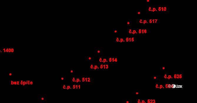 Nový Hradec Králové 514, Hradec Králové na parcele st. 410 v KÚ Nový Hradec Králové, Katastrální mapa