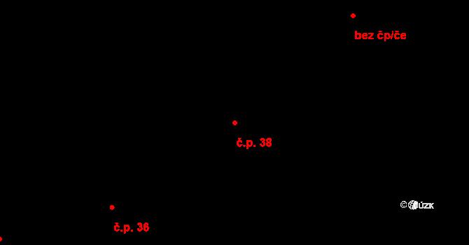 Pechova Lhota 38, Hrejkovice na parcele st. 43 v KÚ Pechova Lhota, Katastrální mapa