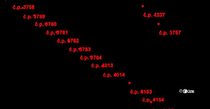 Jihlava 4014 na parcele st. 5408/20 v KÚ Jihlava, Katastrální mapa