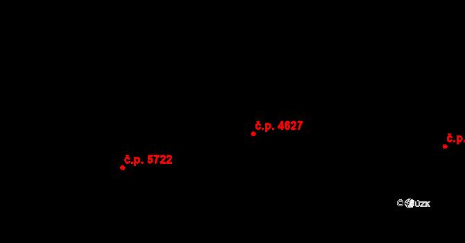 Jihlava 4627 na parcele st. 3890/12 v KÚ Jihlava, Katastrální mapa
